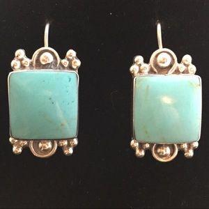 Jewelry - Sterling Silver & Howlite Earrings - Pierced